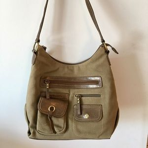 Stone Mountain Canvas Shoulder Hobo Bag Purse